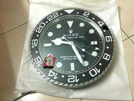 RELOJ DE PARED REPLICA GMT ROLEX, ORIGINAL, DIÁMETRO DE 35 CM: Amazon.es: Hogar