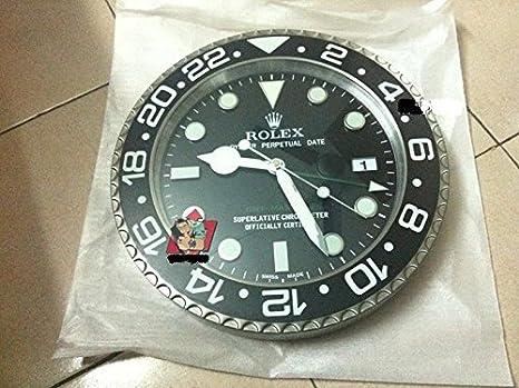 RELOJ DE PARED REPLICA GMT ROLEX, ORIGINAL, DIÁMETRO DE 35 CM: Amazon.es: Hogar