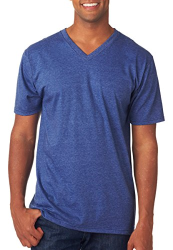 Anvil Men's Mitered V-Neck Collar Semi Fitted T-Shirt, He...