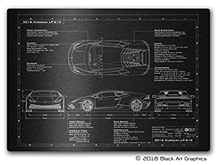 Amazon unique metal car art lamborghini 2014 2017 huracan lambo unique metal car art lamborghini 2014 2017 huracan lambo laser engraved blueprint illustration malvernweather Images