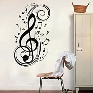 23 6 x 47 2 music notes wall decor removable for Amazon wall mural