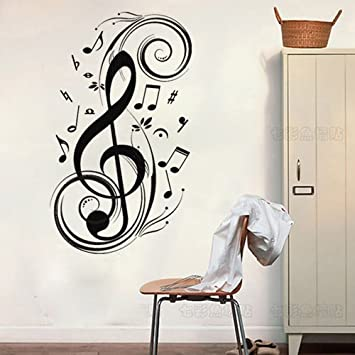 23 6 x 47 2 music notes wall decor removable wall art decal sticker decor mural