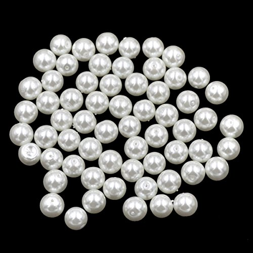 AD Beads Top Quality Czech Glass Pearl Round Loose Beads 3mm 4mm 6mm 8mm 10mm 12mm (12mm (100 Pcs), White)