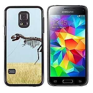 Be Good Phone Accessory // Dura Cáscara cubierta Protectora Caso Carcasa Funda de Protección para Samsung Galaxy S5 Mini, SM-G800, NOT S5 REGULAR! // Skeleton Dinosaur Field Nature