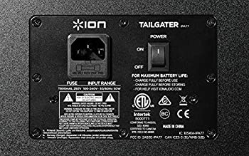 Ion Audio Tailgater (Ipa77) | Portable Bluetooth Pa Speaker With Mic, Amfm Radio, & Usb Charge Port 6