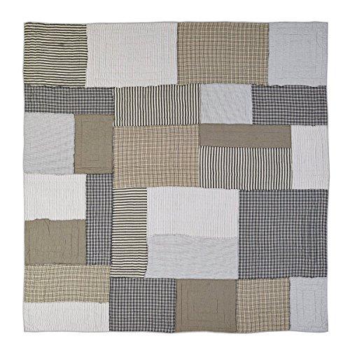 VHC Brands Farmhouse Bedding - Ashmont Grey Quilt, Queen