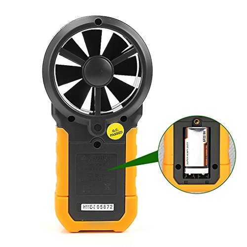 YUNAWU 1set High Accuracy Digital Air Speed Anemometer/Air Volume/Air Flow Test Meter for HYELEC MS6252A by YUNAWU (Image #5)