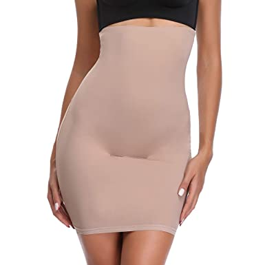 951ddf146 Half Slips for Under Dresses Women High Waist Tummy Control Top Shapewear  Butt Lift Slimming
