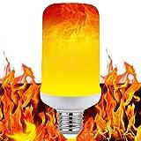 LED Flame Effect Light Bulb, E26 LED Flickering Flame Light Bulbs, LED Beads Simulated Decorative Light Atmosphere Lighting Vintage Flaming Light Bulb for Bar/Festival Decoration