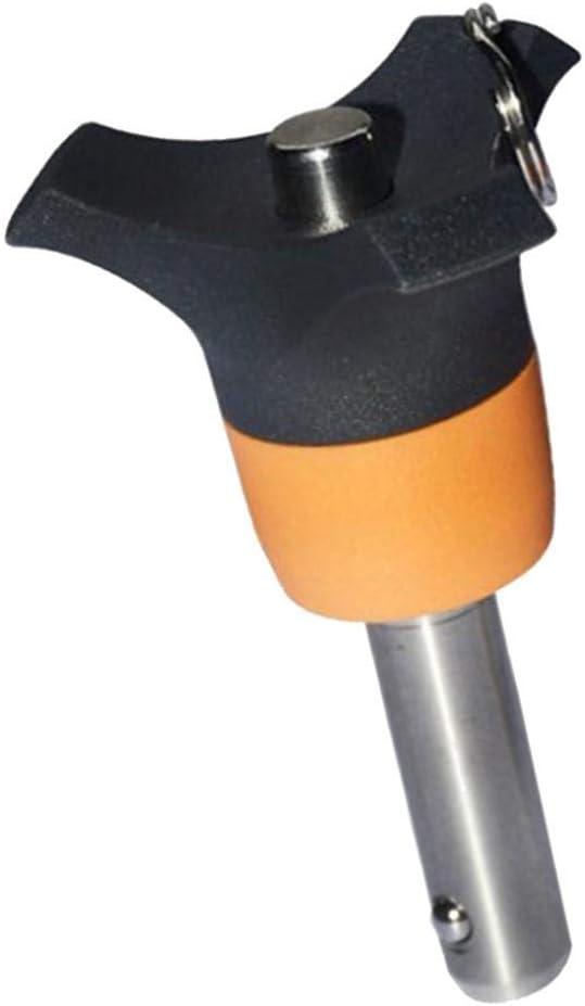 Klemml/änge 50mm H HILABEE 2er Set Edelstahl Kugelsperrbolzen /Φ 6 mm Steckbolzen