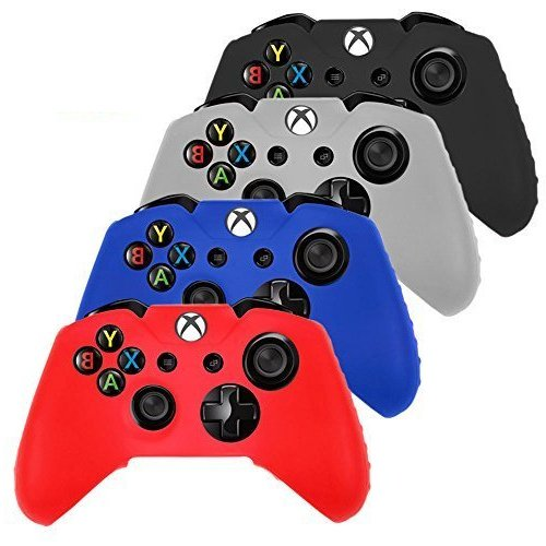 DQDF-4-PCS-Pack-Soft-Silicone-Gel-Rubber-Grip-Controller-Protecting-Cover-BlackRedBlueWhite-Xbox-one