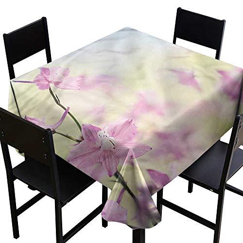 (Decor Collection Table ClothsFloral,Larkspur Petals Summer,W36 x L36 for Umbrella Table )