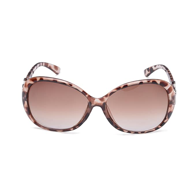 Generic Sonnenbrille Farbe Leopard Oval Vintage, entspiegelten Farbverlauf für Frauen