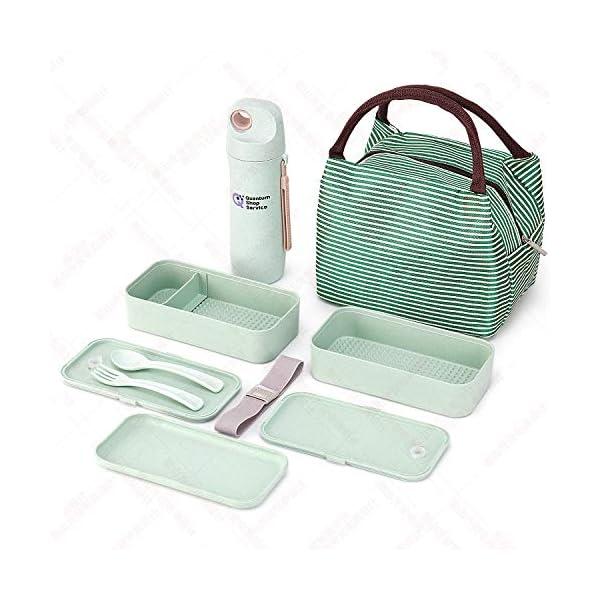 Quantum Lunch Box – salvagoccia e Senza BPA – Jausen Box per Bambini e Adulti – Bento Box con Posate, Bottiglia d'Acqua… 3 spesavip
