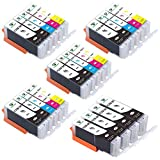 Supricolor PGI-250XL CLI-251XL Ink Cartridges, High Yield Replament Ink for PGI 250XL CLI 251XL Compatible with Pixma MX922 MG6420 MG6620 Printers 24 Pack (4Sets + 4BK)