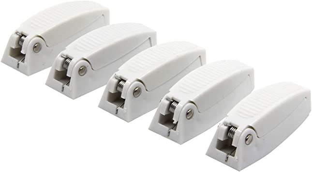 White Camper Trailer RKURCK 5 Pack Baggage Door Catch Clip Compartment Latch Holder for RV Motor Home Baggage Doors