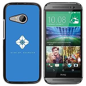 EJOY---Cubierta de la caja de protección la piel dura para el ** HTC ONE MINI 2 / M8 MINI ** --Ojos Up