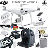 DJI Phantom 4 PRO+ (Plus) Quadcopter, CP.PT.000549, w/ Platinum Bundle: Includes Remote with Built in Monitor, Pro+ Backpack w/ TSA Lock, 3x Intelligent Flight Batteries, 64GB Extreme and more...