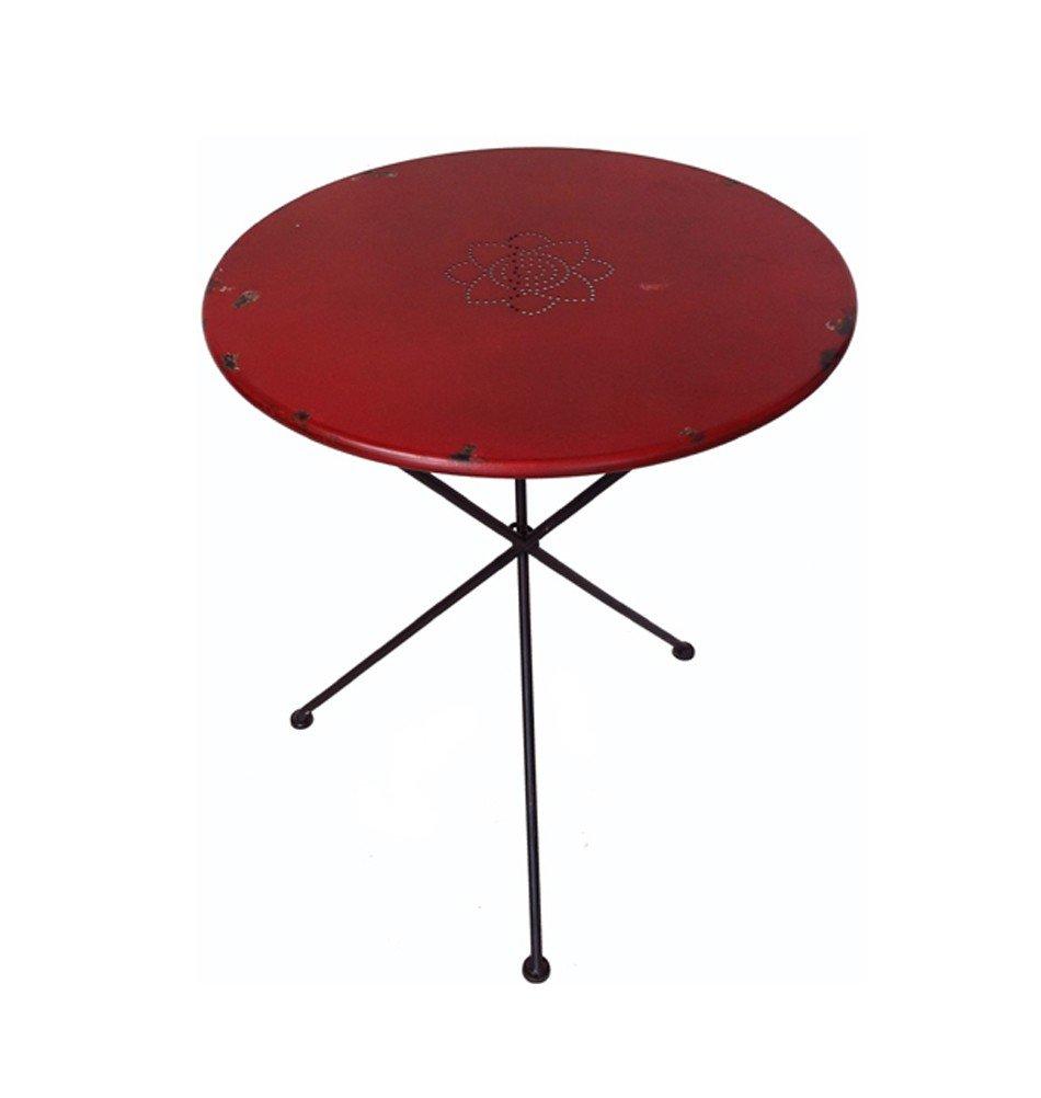 Milanari Gartentisch rot Metalltisch Breno rot klappbar Höhe 75 75 75 cm 65d14f