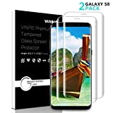 Samsung Galaxy S8 Plus Screen Protector, Vinpie 2 Pack Tempered Glass [Bubble-Free] [HD Ultra Clear] [Easy to Install] [9H Hardness Grade] Glass Screen Protector for Galaxy S8 Pus