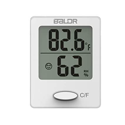 Baldr Mini digital thermometers with temperature and humidity display indication