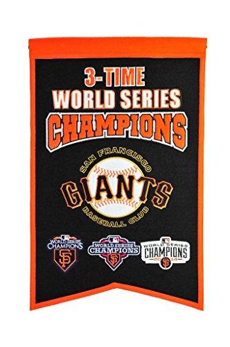 Winning Streak MLB San Francisco Giants 3 Time WS Champions Banner, One Size