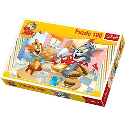 Trefl 57991 - Puzzle Classique - Tom Et Jerry - 100 Pièces