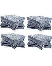 Panel de absorción acústica, 30.5 x 30.5 x 1 cm, color gris, azulejos de panel de aislamiento acústico, tratamiento acústico utilizado en el hogar y la oficina, 48 Pack