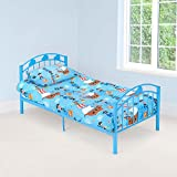 Christow Blue Metal Bed Frame Kids Bedroom Furniture Childrens Bedframe Cars