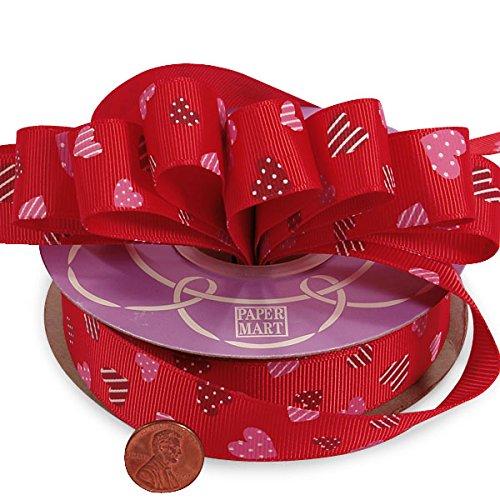 Sweetheart Ribbon - Red Sweetheart Grosgrain Ribbon 7/8