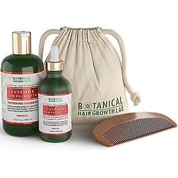 Anti Hair Loss DHT Blocker Shampoo and Pre-Shampoo Scalp Treatment Gift Value Set Cayenne – Saw Palmetto Hair Growth Botanical For Hair Thinning Prevention Alopecia Postpartum