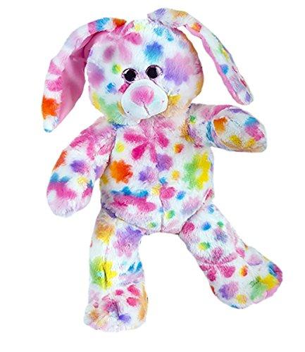 (Cuddly Soft 16 inch Stuffed Rainbow Bunny - We stuff 'em...you love 'em!)