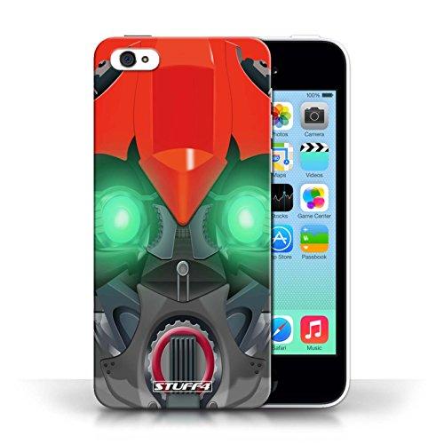 Etui / Coque pour Apple iPhone 5C / Bumble-Bot Rouge conception / Collection de Robots