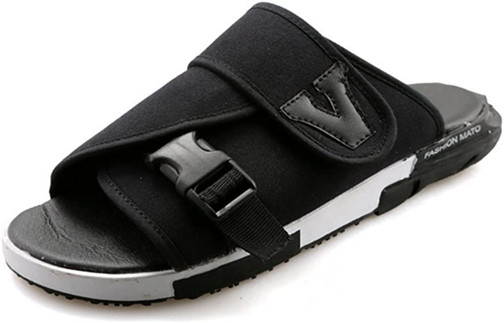 weiwei Mens Summer Thick-Bottomed Sandals,Nylon Beach Slippers