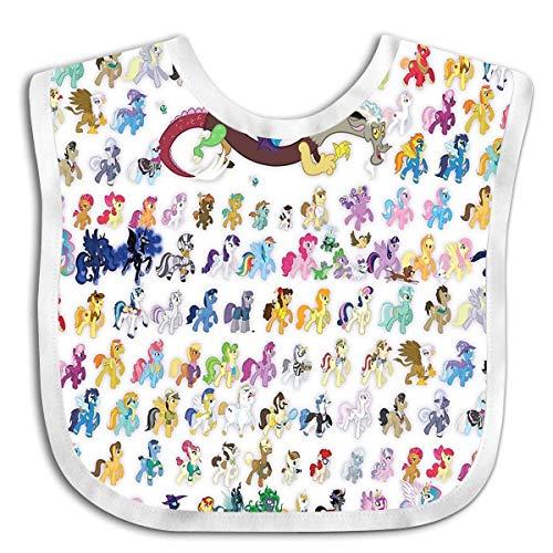 (Fashionable Baby Bandana Drool Bibs, Unisex Burp Cloths for Drooling and Teething (Ponies Mega-pattern))