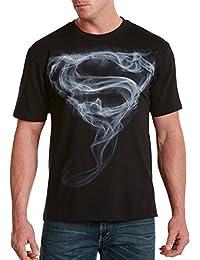 Superman Smoke Big & Tall Short Sleeve Graphic T-Shirt (3XLT, Black)