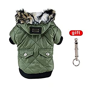 Namsan Pet Puppy Dog Clothes Waterproof and Windproof Hoodie Winter Warm Apparel Coat Outwear Pink Extra Large