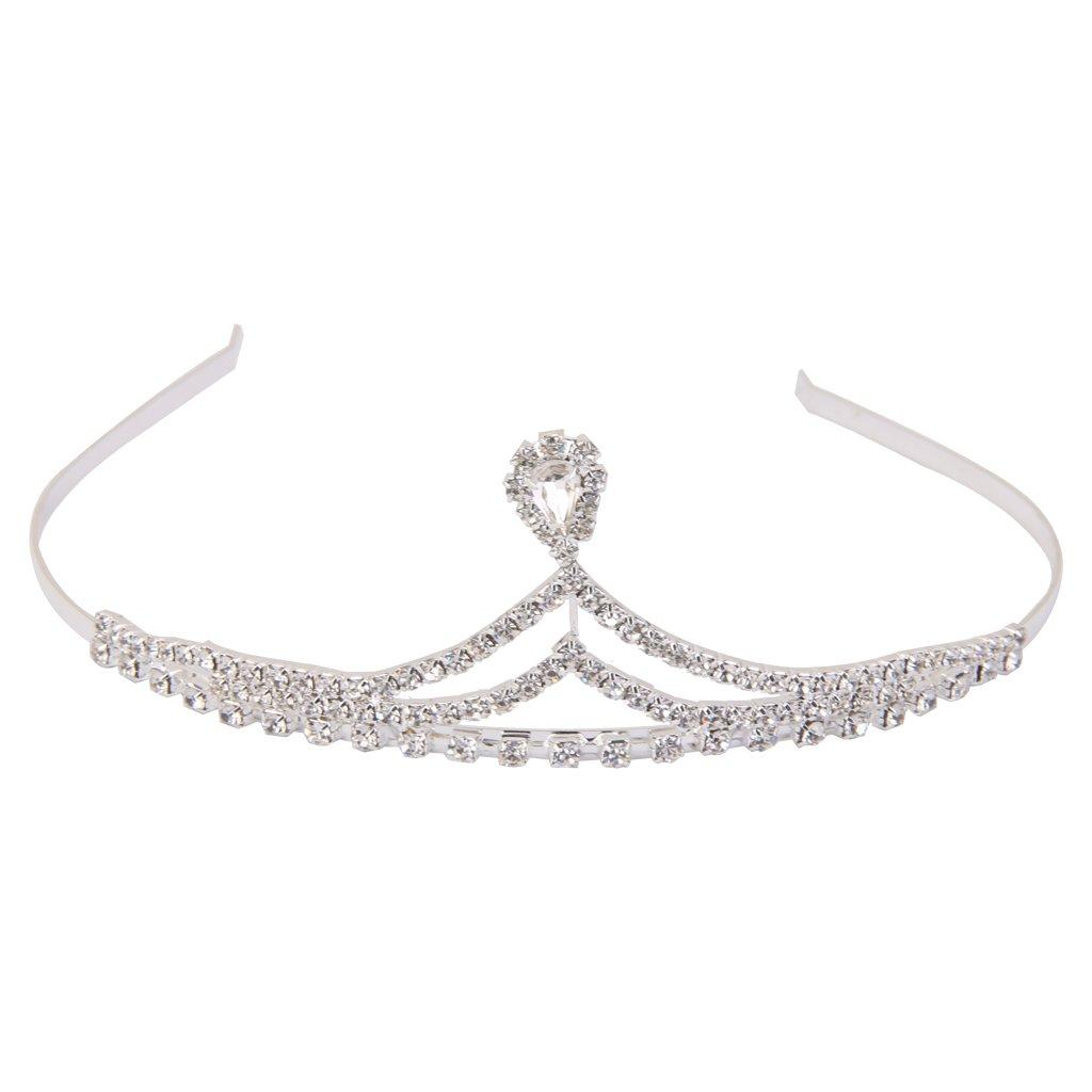 Wedding Bridal Bridesmaid Flower Girl Silver crystal Rhinestone Tiara Crown Generic