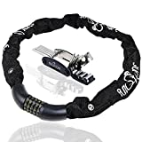 Combination Bike Lock High Cutting Resistance, Anticorrosive Heavy-Duty Long Chain Cable, Keyless 5 Digits Resettable Bicycle Lock =100KCodes, PLUS 16-in-1 Mechanic Toolkit & eBook. UPGRAD Your Guard. For Sale