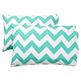 Santa Cruz Turquoise Chevron Twin Extra Long Sheet Set, Twin XL