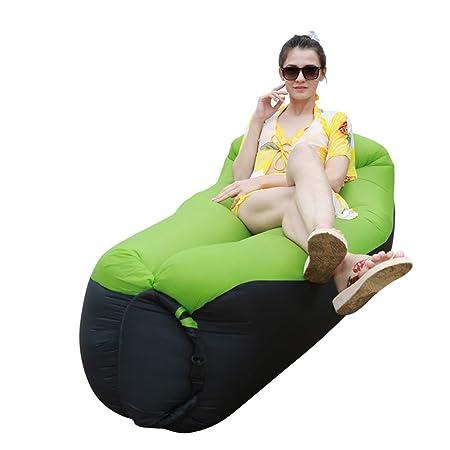 Sofá de aire, sillón inflable portátil con bolsa de ...