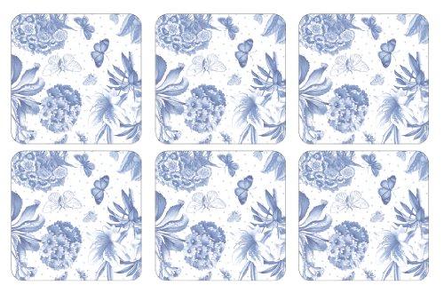 Botanic Blue Placemats - Portmeirion Botanic Blue Coasters, Set of 6