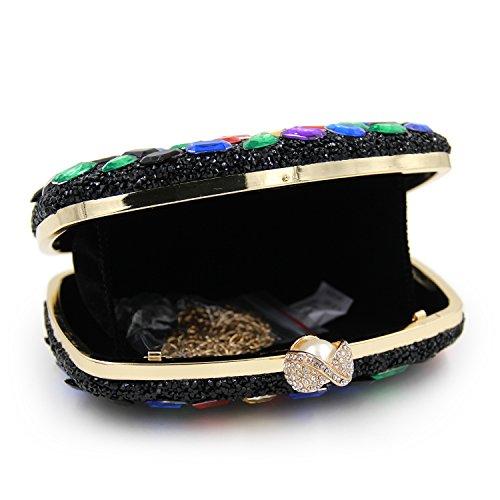 embrayages Sacs Acrylique D Main de la soirée Luxe Cristal de de Sacs coloré Les Femmes Mode à Sacs KYS de en des Mariage fOqHWw