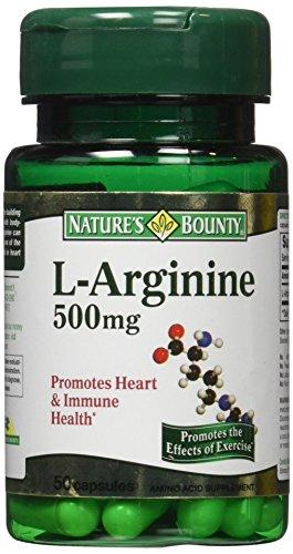 Natures Bounty L Arginine 500mg Capsules