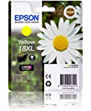 Epson 18XL Yellow Original Extra Large Ink Cartridge (Daisy) for Epson Expression Home Printers XP102, XP202, XP205, XP30, XP302, XP305, XP402, XP405.