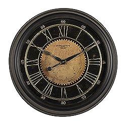Offex Home 24 Classic Villa Framed Wall Clock Antique Bronze