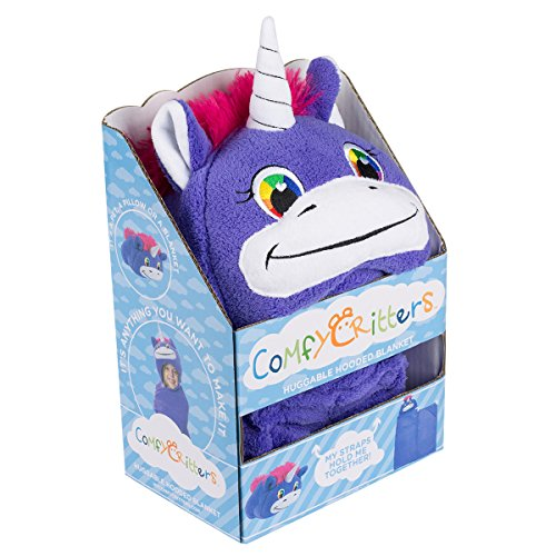 Comfy Critters Stuffed Animal Blanket ? Unicorn ? Kids huggable pillow and blanket perfect for ...