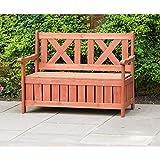 Leisure Season eisure Season SB6024 Wooden Backyard Brown-1 Piece-Patio, Balcony, Garden, Lawn, Park, Front Outdoor Bench with Storage
