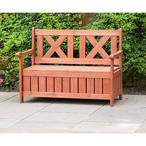 (Leisure Season Backyard Bench with Storage)