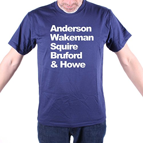 Old Skool Hooligans Anderson Wakeman Squire Bruford & Howe T Shirt - Yes! Navy